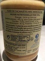 Pur beurre de cacahuète crunchy - Ingredienti - fr