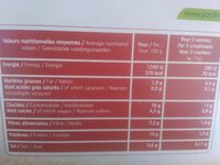 Tartines craquantes blé complet - Informations nutritionnelles - fr