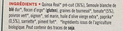 Instant quinoa tomate paprika - Ingrédients - fr