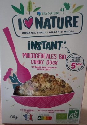 INSTANT' multicéréales bio curry doux - Product - fr