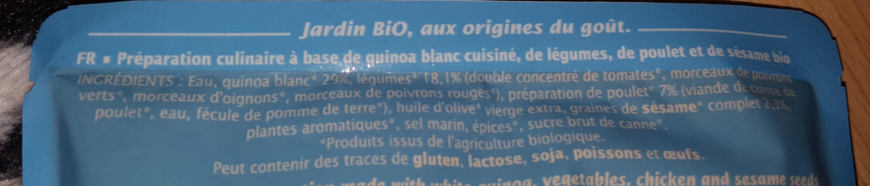 Quinoa poulet et sésame - Ingrédients - en