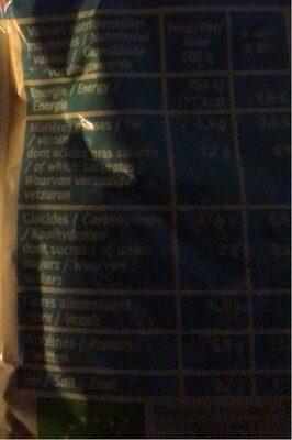 Quinoa poulet et sésame - Informations nutritionnelles - en