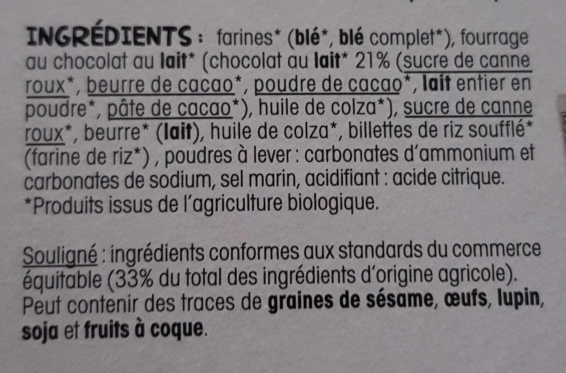 Crousti fourres - Ingredientes - fr