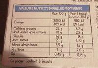 Crousti fourres - Informação nutricional - fr