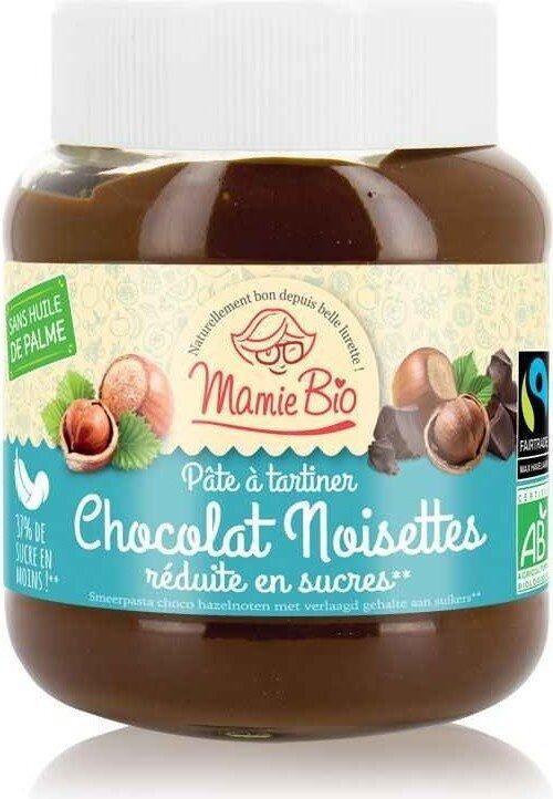 Pate à tartiner chocolat noisette réduite en sucre équitable bio - Prodotto - fr