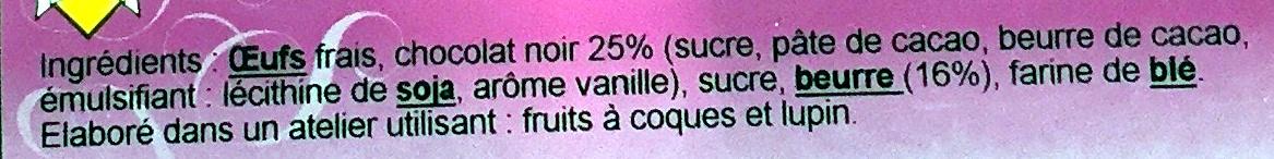 Fondant au chocolat - Ingrediënten