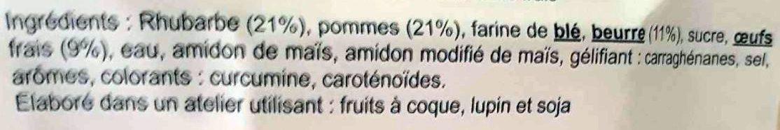 Tarte aux Pommes et à la Rhubarbe - Ingrédients - fr