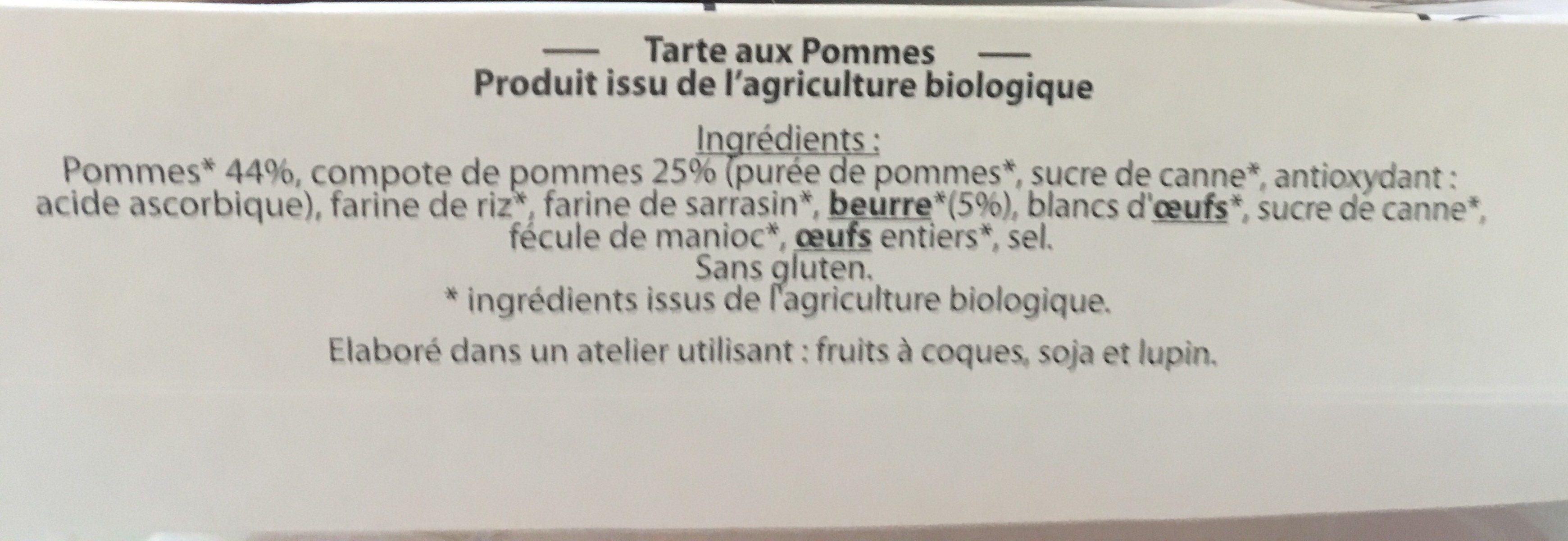 Tarte aux pommes - Ingrediënten - fr