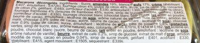 Assortiment de macarons - Ingredients
