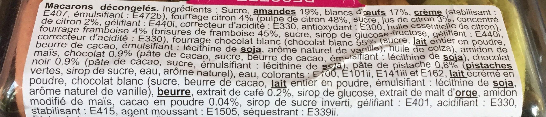 Assortiment de macarons - Ingredientes - fr