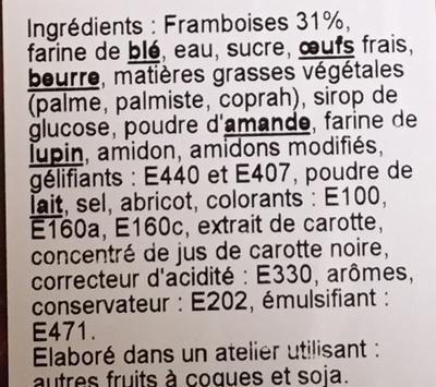 Tarte aux Framboises - Ingrédients