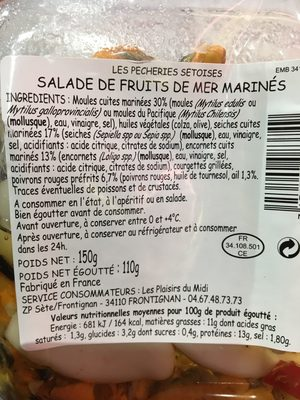Salade de fruits de mer FUMERIES OCCITANES - Produit - fr