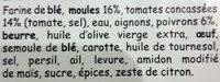 2 Chaussons aux Moules - Ingrediënten - fr