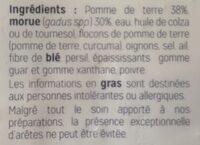 Brandade de morue - Ingredients - fr