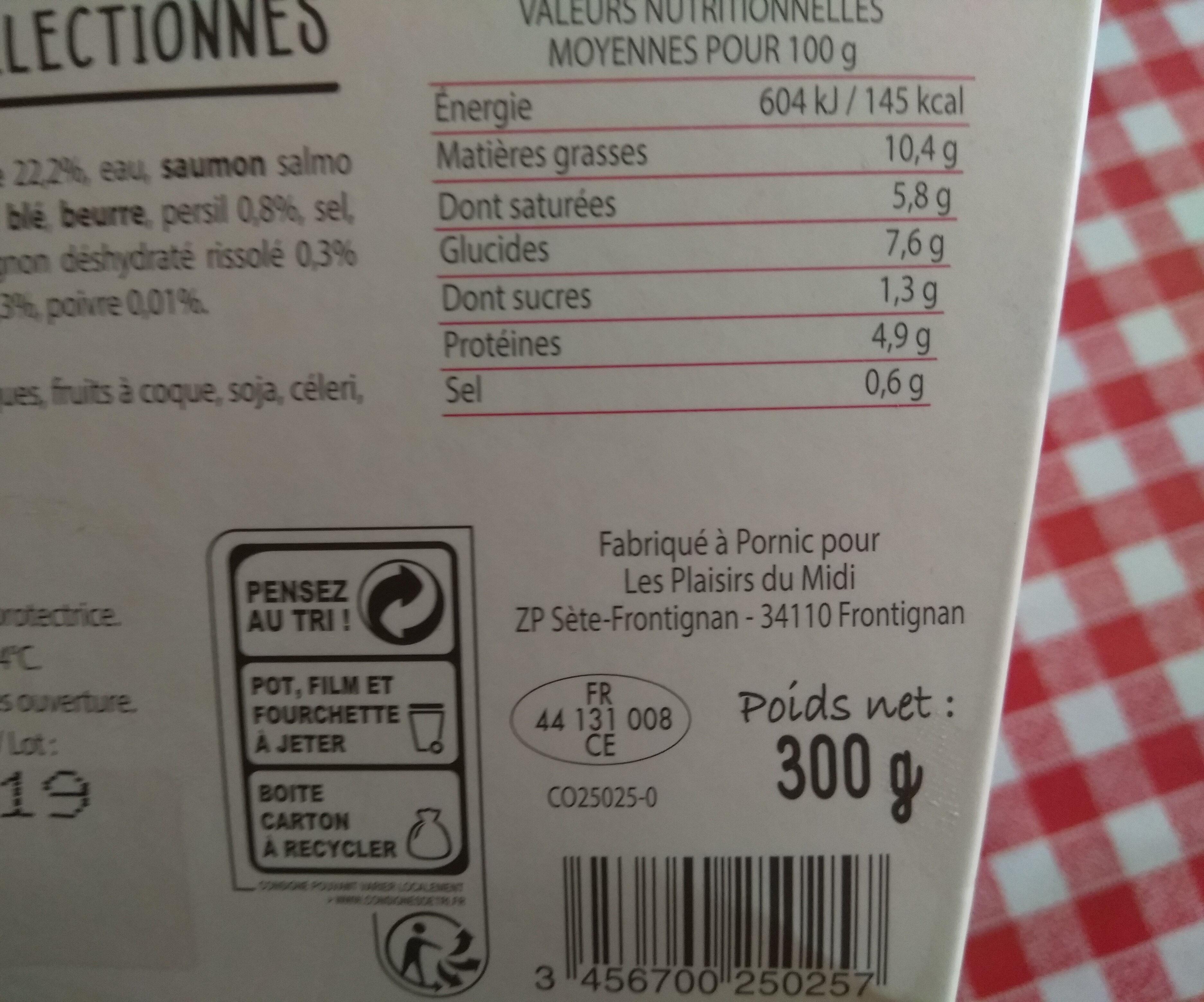 Parmentier de saumon - Nutrition facts