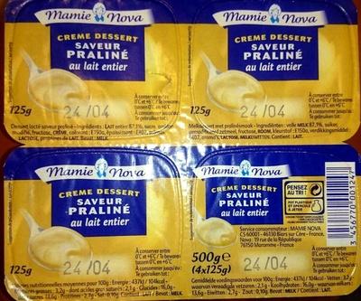 Crème dessert saveur praliné au lait entier - Produit
