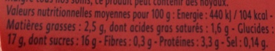 Yaourt cerises griottes - Nutrition facts