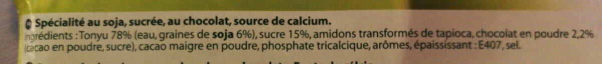 Soja chocolat - Ingrédients - fr