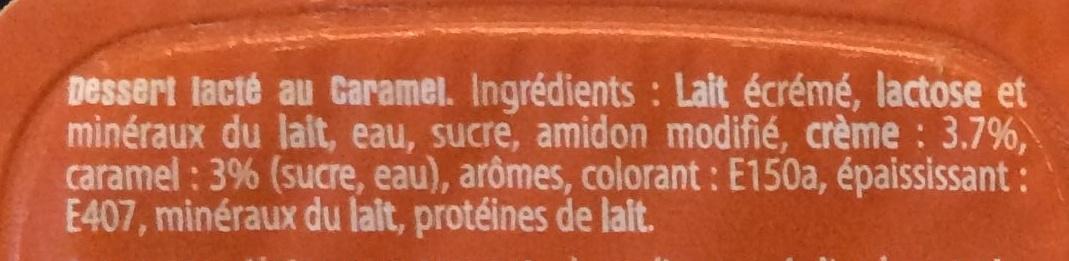 Crème dessert Caramel - Ingredients
