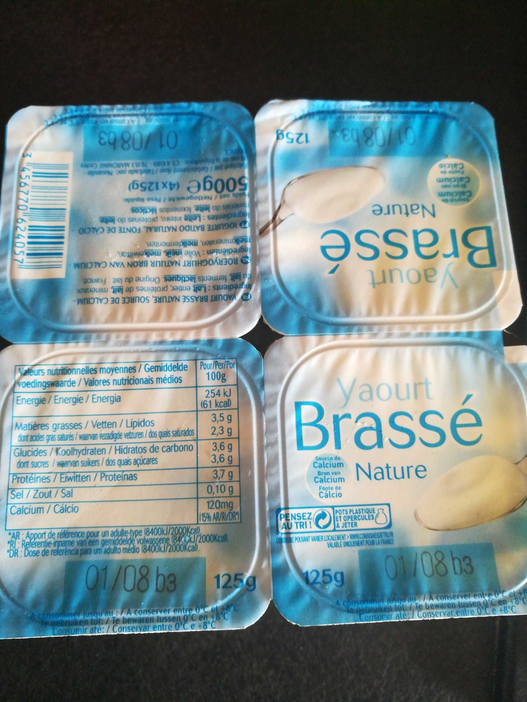 Yaourt Nature Brassé - Produit