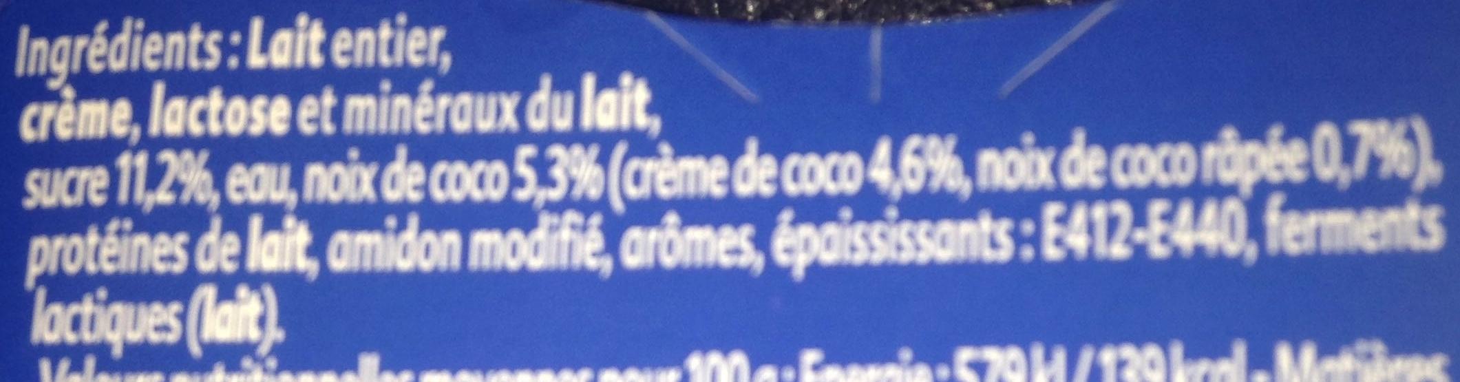 Gourmand Yaourt Noix de Coco - Ingrédients - fr