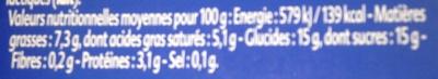 Gourmand Yaourt Noix de Coco - Informations nutritionnelles - fr