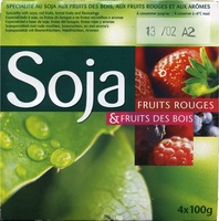 Yogurt soja frutos rojos - Producte