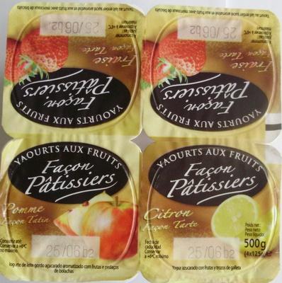 Yaourts aux fruits Façon Pâtissiers (Fraise, Pomme, Citron) - Produit - fr