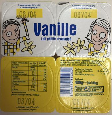 Vanille Lait gélifié aromatisé - Product