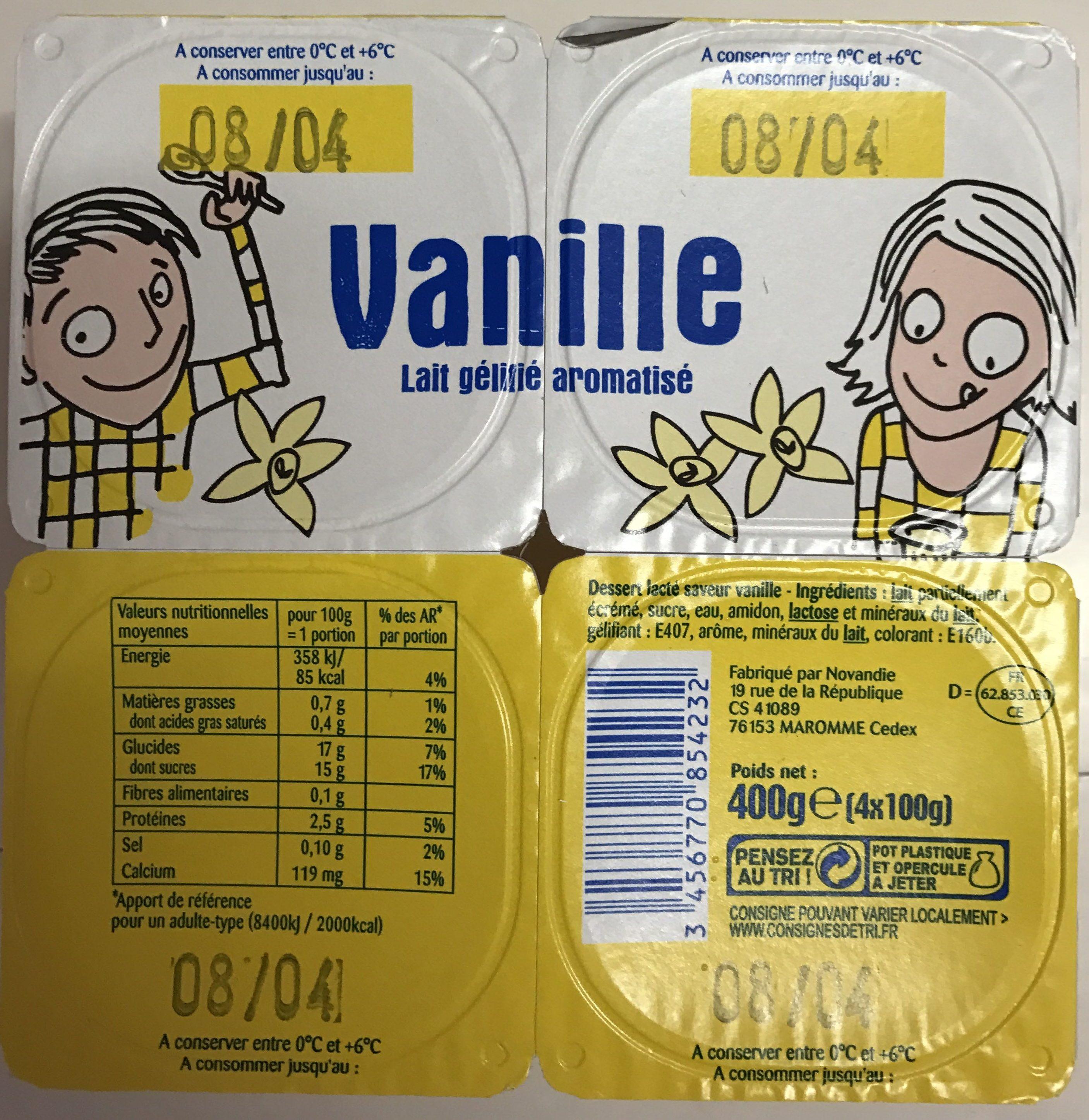 vanille lait g lifi aromatis sans marque 4 100 g 400 g. Black Bedroom Furniture Sets. Home Design Ideas