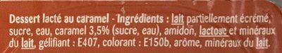 Caramel Lait gélifié - Ingredients