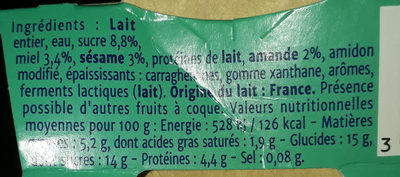 Gourmand yaourt oriental - Nutrition facts