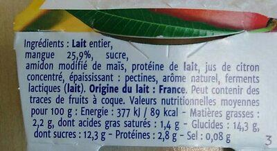 Double Plaisir Mangue - Ingrédients - fr