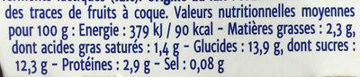 double plaisir kiwi - Nutrition facts - fr