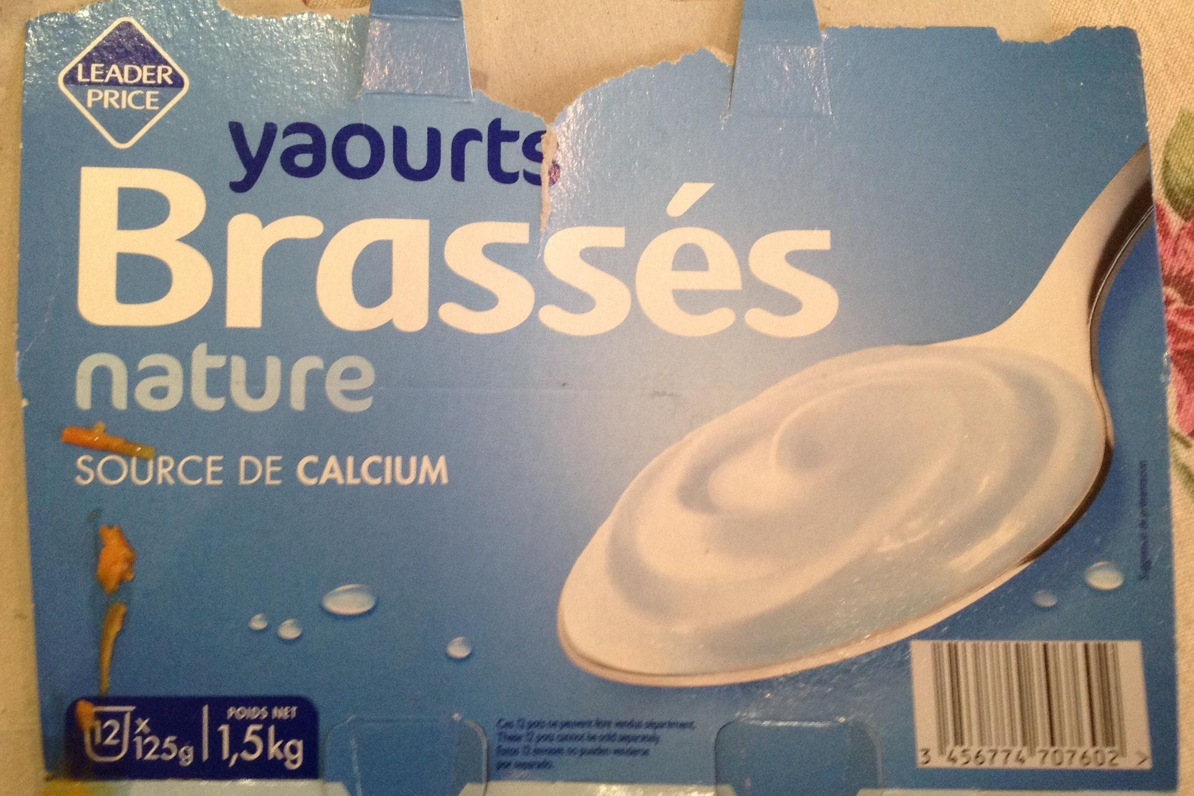 Yaourts Brassés Nature - Produit - fr