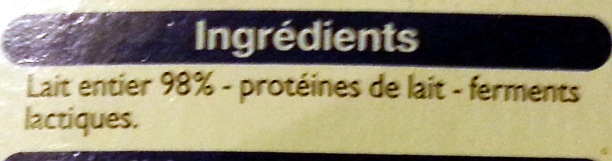 Yaourts Brassés Nature - Ingrédients - fr