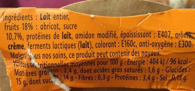Yaourt Abricot romarin - Ingrédients - fr