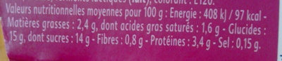 Yaourt gourmand framboise - Informations nutritionnelles - fr