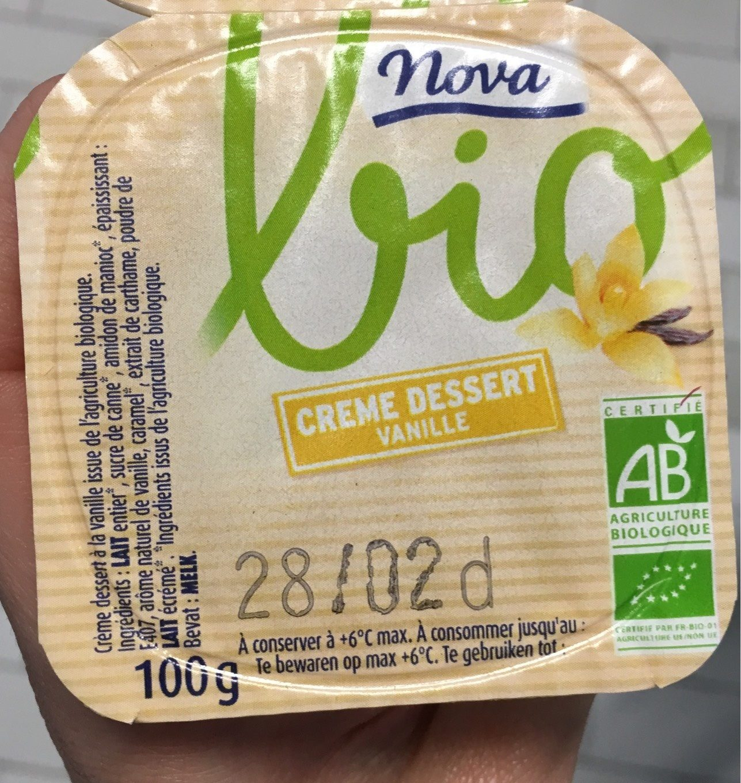 Crème Dessert à La Vanille Bio - Produit