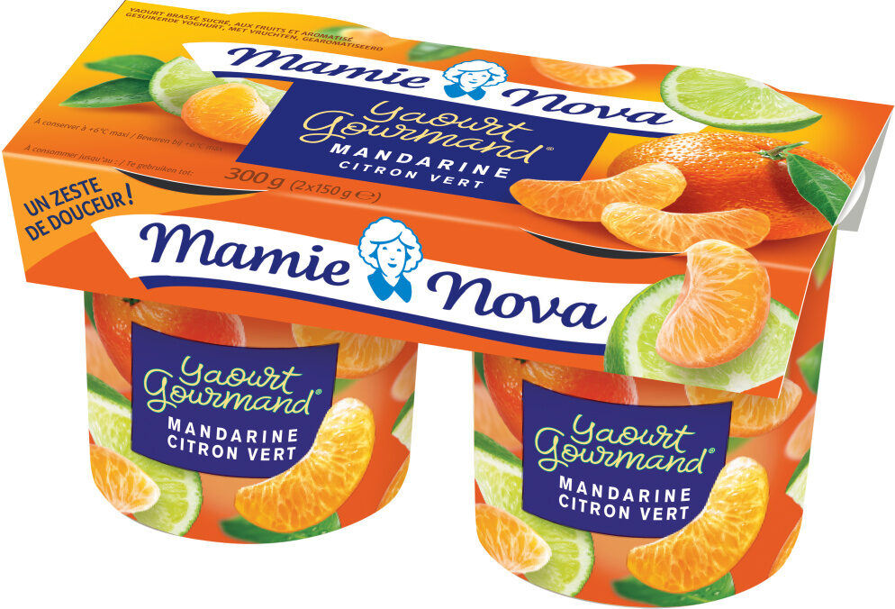 Gourmand® Yaourt Mandarine Citron🍋 Vert - Produit - fr