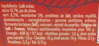 Gourmand® Yaourt Mandarine Citron🍋 Vert - Informations nutritionnelles - fr