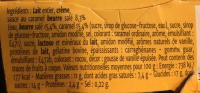 Coeur de Liégois Vanille Coeur Caramel Beurre Salé - Ingredients