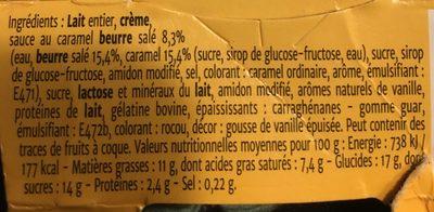 Coeur de Liégois Vanille Coeur Caramel Beurre Salé - Nutrition facts