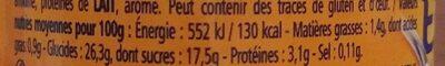 Les Entremets, riz au lait caramel - Informations nutritionnelles - fr
