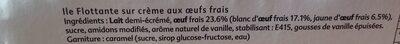 L'ile flottante et son caramel - Ingrédients - fr