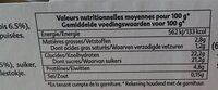 L'ile flottante et son caramel - Informations nutritionnelles - fr
