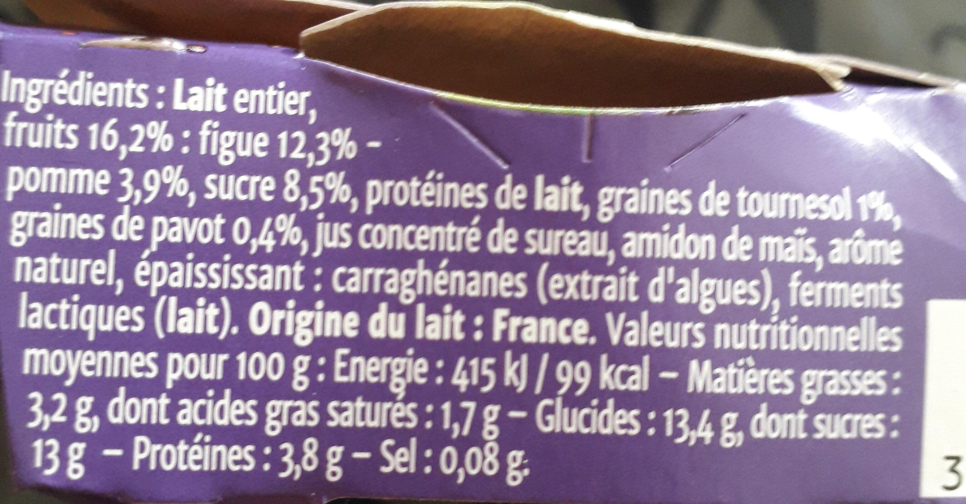 Gourmand® Yaourt Figue Tournesol Pavot - Ingredients - fr
