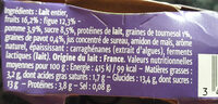 Gourmand® Yaourt Figue Tournesol Pavot - Nutrition facts - fr