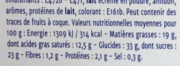 Cheese cake citron - Informations nutritionnelles - fr