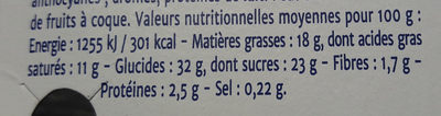 Cheese cake cassis - Informations nutritionnelles